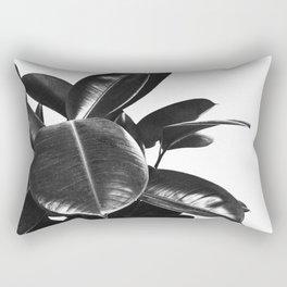 Black Ficus Elastica Rectangular Pillow