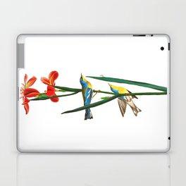 Bird & Red Flowers Laptop & iPad Skin