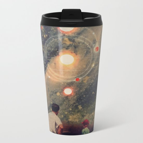 Light Explosions In Our Sky Metal Travel Mug