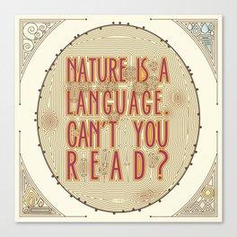 Nature is a Language: The Smiths Lyrics Canvas Print