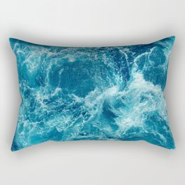 Ocean is shaking Rectangular Pillow