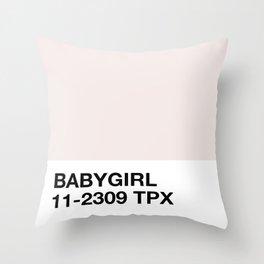 babygirl Throw Pillow