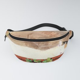 Siesta Time Cat Napping in Flower Pot Fanny Pack