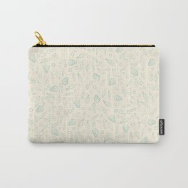 Underwater world small turquoise on beige pattern Carry-All Pouch