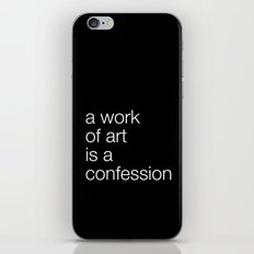 work of art black iPhone & iPod Skin