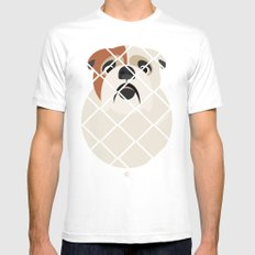 Bulldog White Mens Fitted Tee MEDIUM