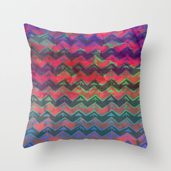 RHYTHM - Rainbow Ombre Throw Pillow