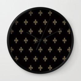 Pom Pom - Black Wall Clock