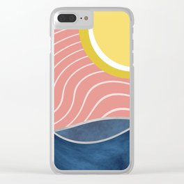 Sun, beach and sea Clear iPhone Case