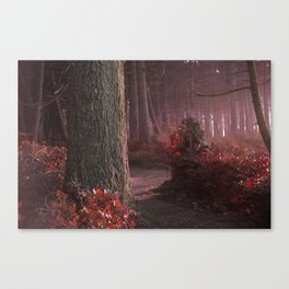 The Forest Whispers Sanguine Canvas Print