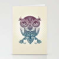 egyptian Stationery Cards featuring Baby Egyptian Owl by Rachel Caldwell