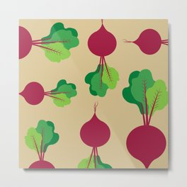 Beets in Tan Metal Print