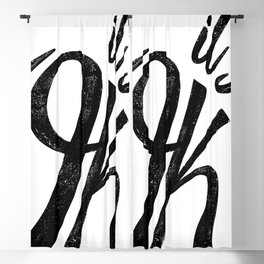 it's OK positive affirmation calligraphy  Blackout Curtain