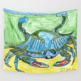 Blue Crusher Wall Tapestry