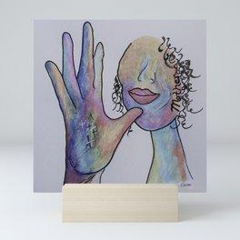 ASL Mother in Denim Coloring Mini Art Print