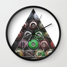 Graffiti Spray Cans - Geometric Photography Wall Clock