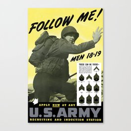 Follow Me - Join The Us Army  Canvas Print