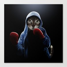 Boxing Cool Cat Canvas Print