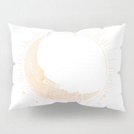 Moai Crescent Moon Pillow Sham
