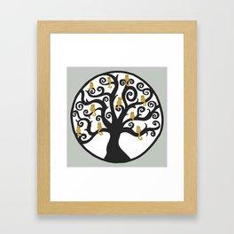 Cat Tree of Life Framed Art Print