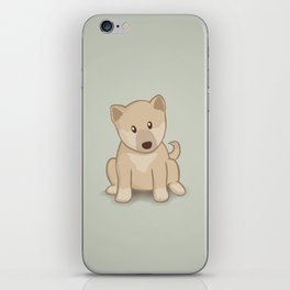 Shiba Inu Dog Illustration iPhone Skin