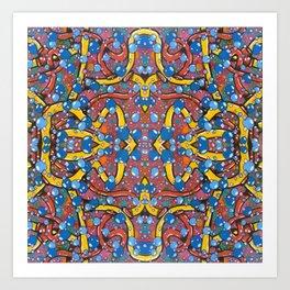 Puny Piping Particles Art Print