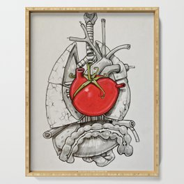 The Beat of The Tomato Serving Tray