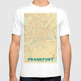 Frankfurt Map Retro T-shirt