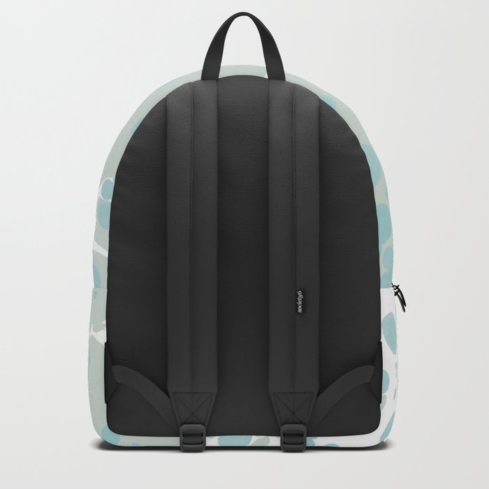 Soft Pastel turquoise and mint green spilled paint bubbles effect Backpack