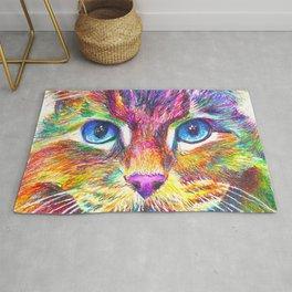 Colorful Rainbow Cat Rug