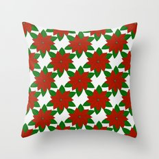 C13D Poinsettia Throw Pillow