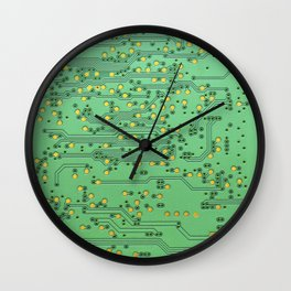 computer main board texture Wall Clock
