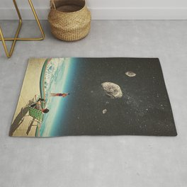 Summer with a Chance of Asteroids Rug