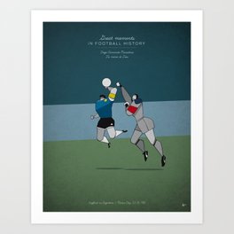 Diego Armando Maradona Art Print