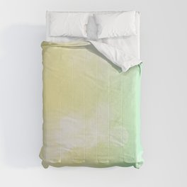 Yellow-blue pattern Comforters