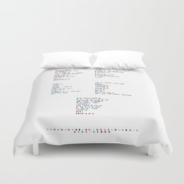 Bloc Party Discography - Music in Colour Code Duvet Cover