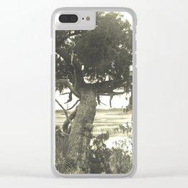 Marsh Landscape Clear iPhone Case