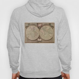 Vintage Map of The World (1808) Hoody