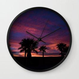 Palm Sunset - 7 Wall Clock