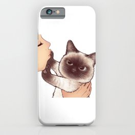 kiss cute cat 4 iPhone Case
