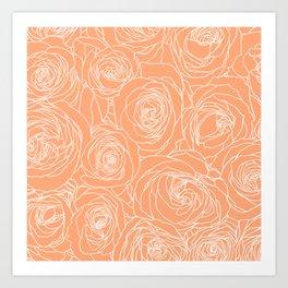 Cantaloupe Roses Art Print