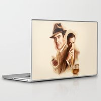 mad men Laptop & iPad Skins featuring MAD MEN DON DRAPER by TOXIC RETRO