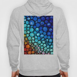 Abstract 2 - Colorful Original Art Painting by Sharon Cummings Primary Colors Hoody