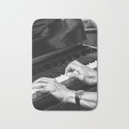 Play the Piano Bath Mat