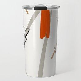 The grey shield dress Travel Mug
