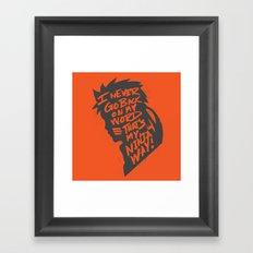 Will of Team 7 [Orange] Framed Art Print