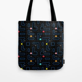 Pac-Man Retro Arcade Gaming Design Tote Bag
