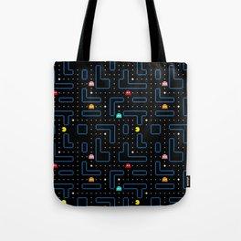 Pac-Man Retro Arcade Gaming Design Tote Bag