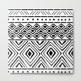 African Mud Cloth Metal Print