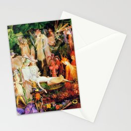The Fairy's Woodland Funeral by John Anster Fitzgerald Stationery Cards